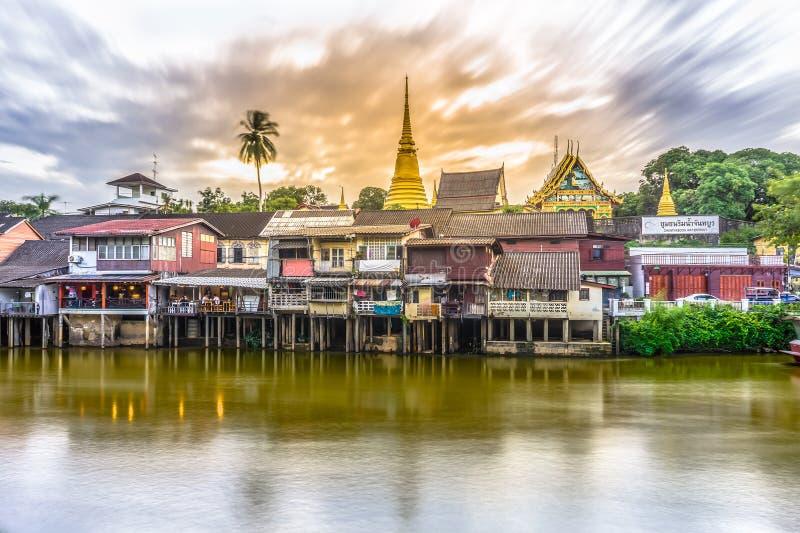 Портовый район Chantaboon на провинции Chanthaburi, Таиланде стоковая фотография rf