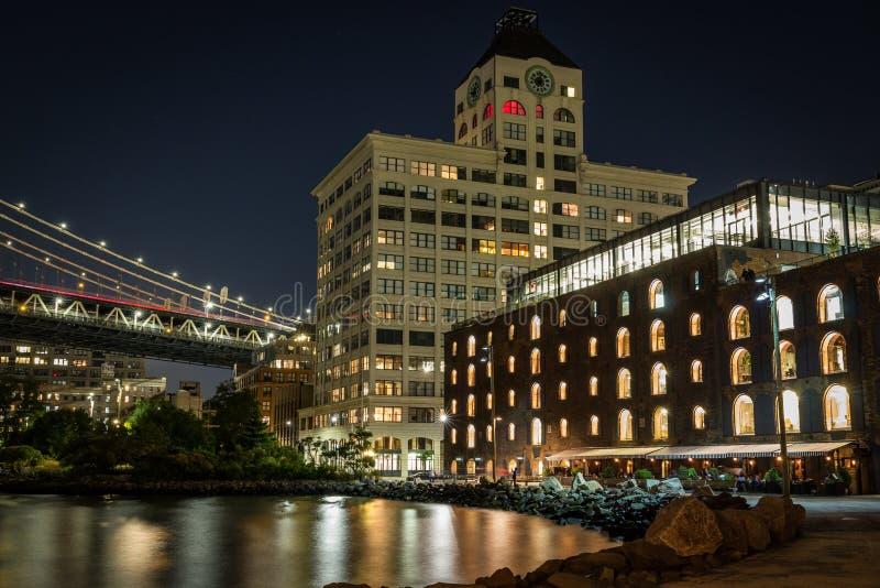 Портовый район Dumbo Бруклина, Нью-Йорк стоковое изображение