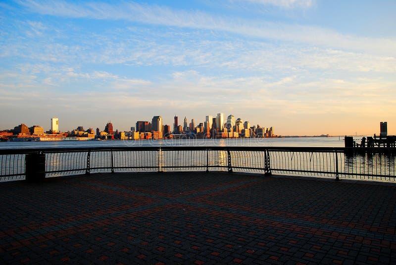 Портовый район Hoboken стоковые фото