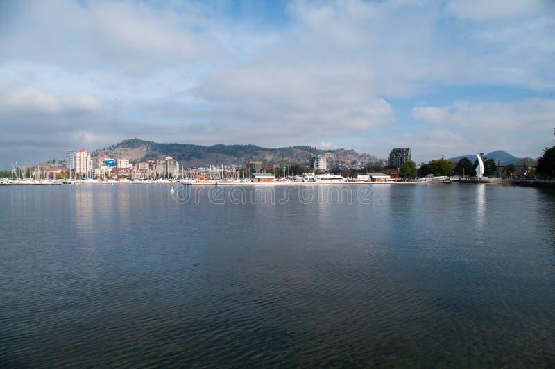 Портовый район Kelowna стоковое фото