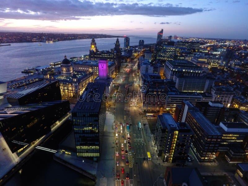 Портовый район Liverpools стоковое фото rf