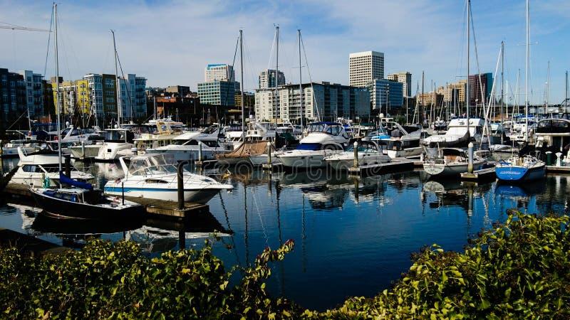 Портовый район Tacoma стоковое изображение rf