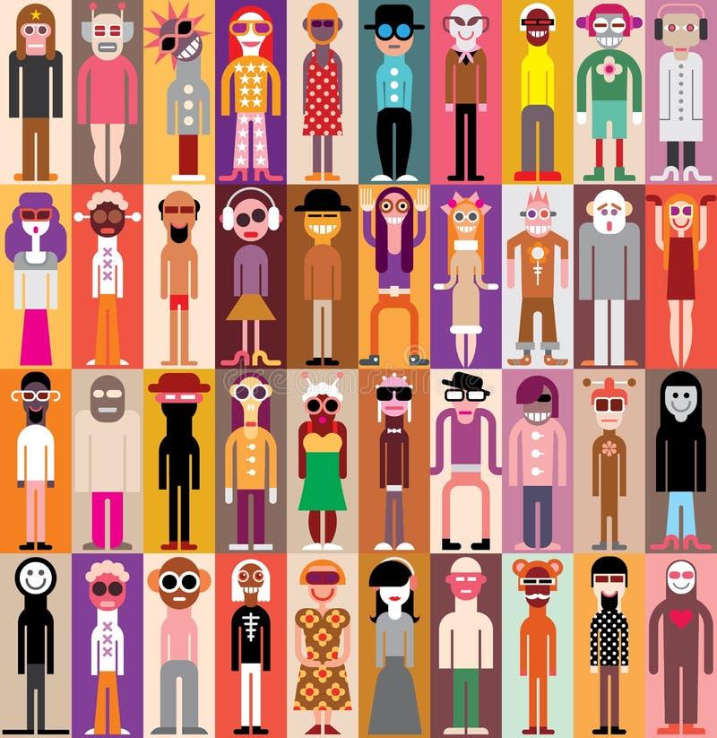 Портреты людей бесплатная иллюстрация
