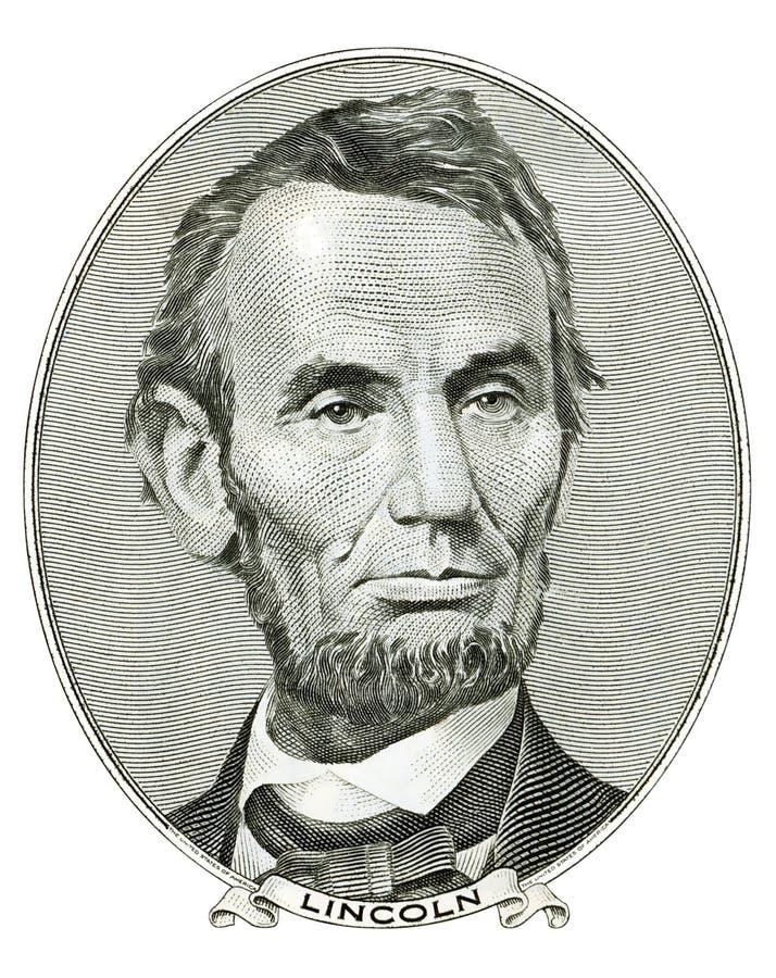 портрет Абраюам Линчолн стоковое изображение rf