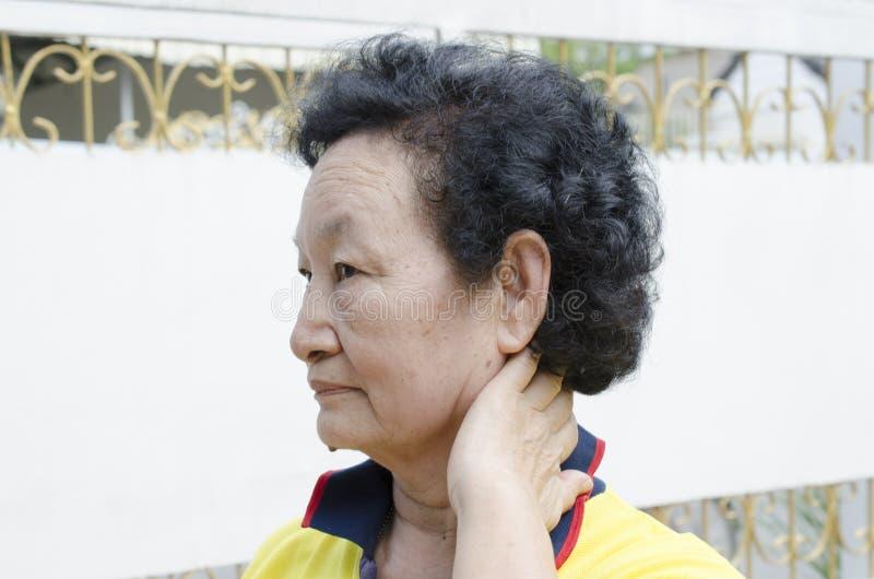Портрет азиатского старшия стоковое фото rf