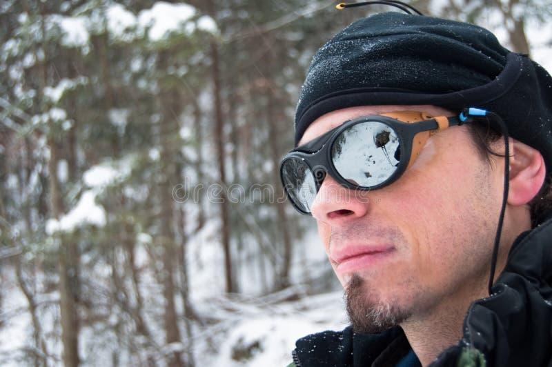 портрет альпиниста стоковая фотография
