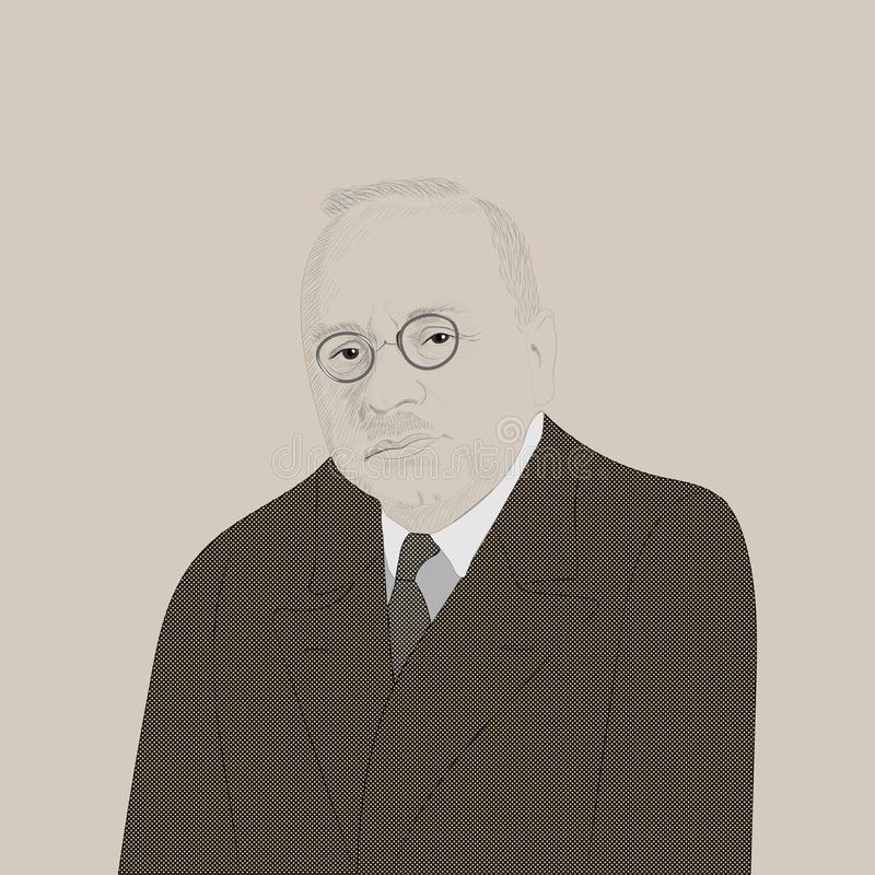 Портрет Альфреда Adler бесплатная иллюстрация
