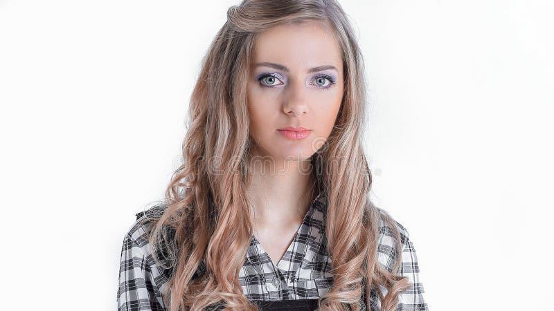 Портрет ассистента молодой женщины r стоковые фото