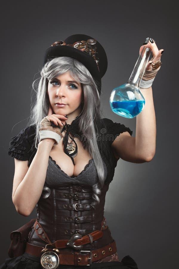 Портрет алхимика steampunk стоковые изображения