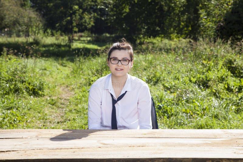 Портрет безработной коммерсантки, улыбка стоковое фото rf