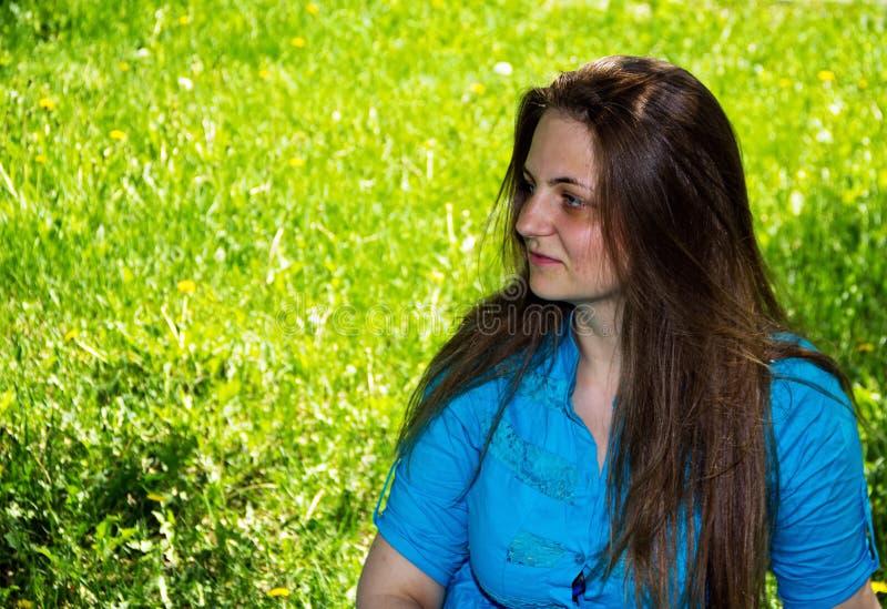 Портрет белокурой женщины стоковое фото rf