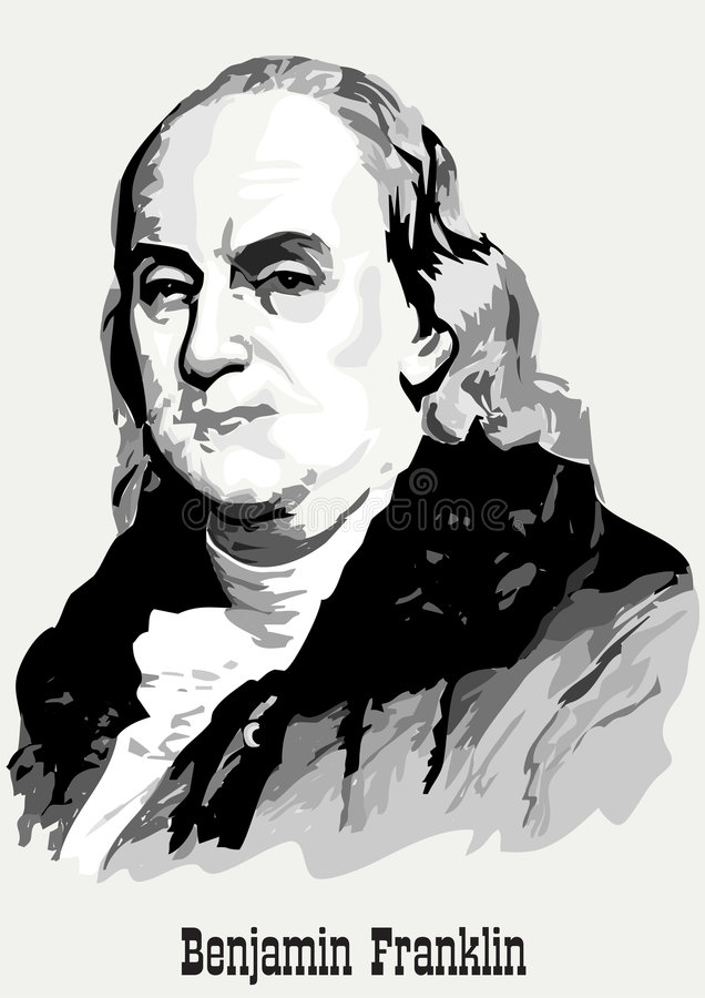 портрет Бенжамин Франклин Стоковое фото RF