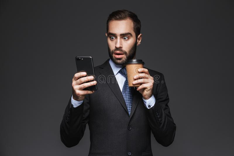 портрет бизнесмена уверенно красивый стоковые изображения rf