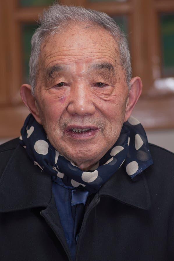 Портрет более старого человека стоковое фото rf