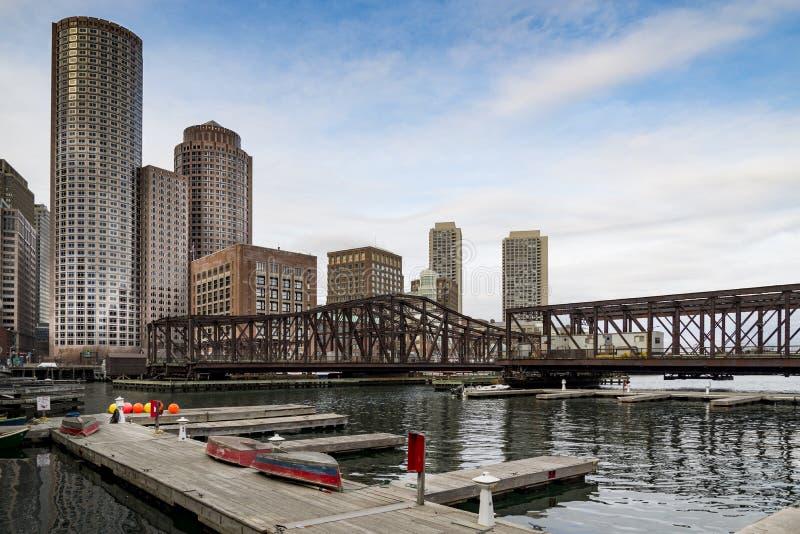 Портрет Бостона городской стоковое изображение