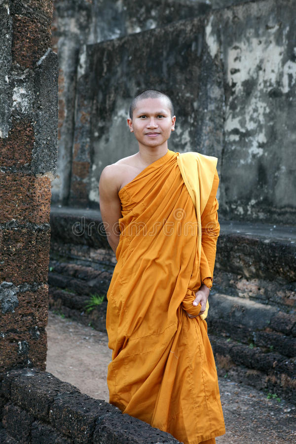 Портрет буддийского монаха стоковые фото