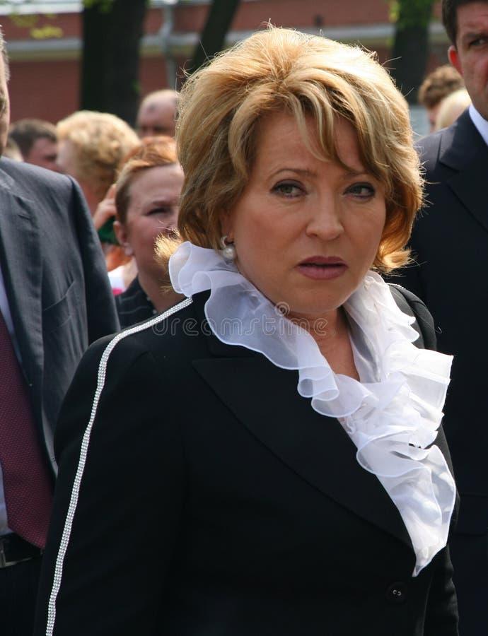 Портрет Валентины Matvienko, одного из самых известных современных женских политиков стоковая фотография rf