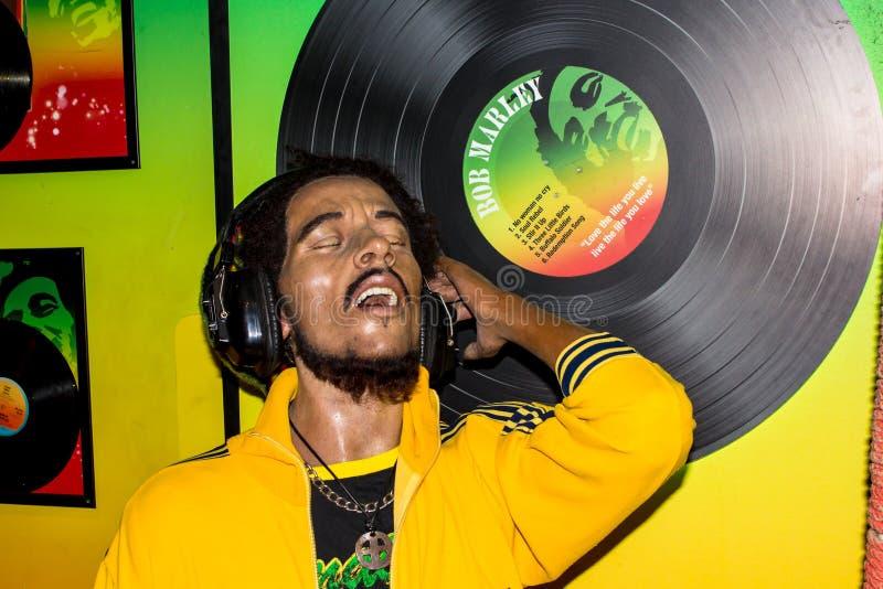 Портрет воска Bob Marley, Амстердам Мадам Tussaud's стоковое фото rf