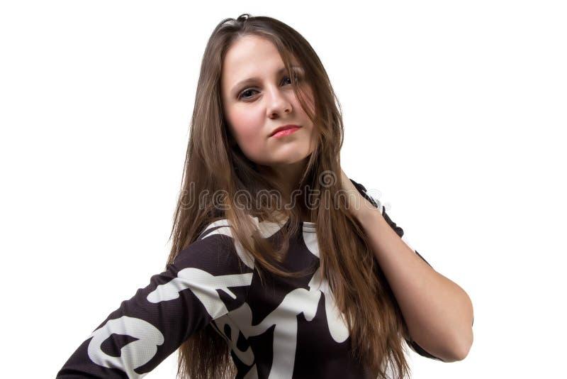 Download Портрет волос женщины касающих Стоковое Фото - изображение насчитывающей модно, сторона: 40588166