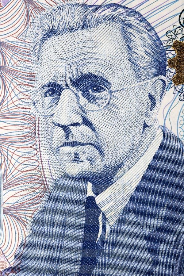 Портрет Гарри Ferguson от ирландских денег стоковые фотографии rf
