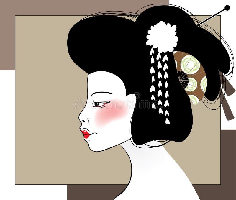 Портрет гейши иллюстрация вектора