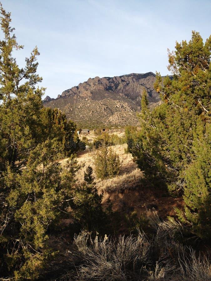 Портрет горы Сандии стоковое изображение