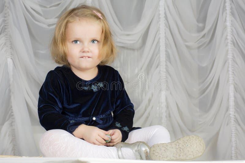 Портрет годовалого ребенка 2 стоковая фотография rf