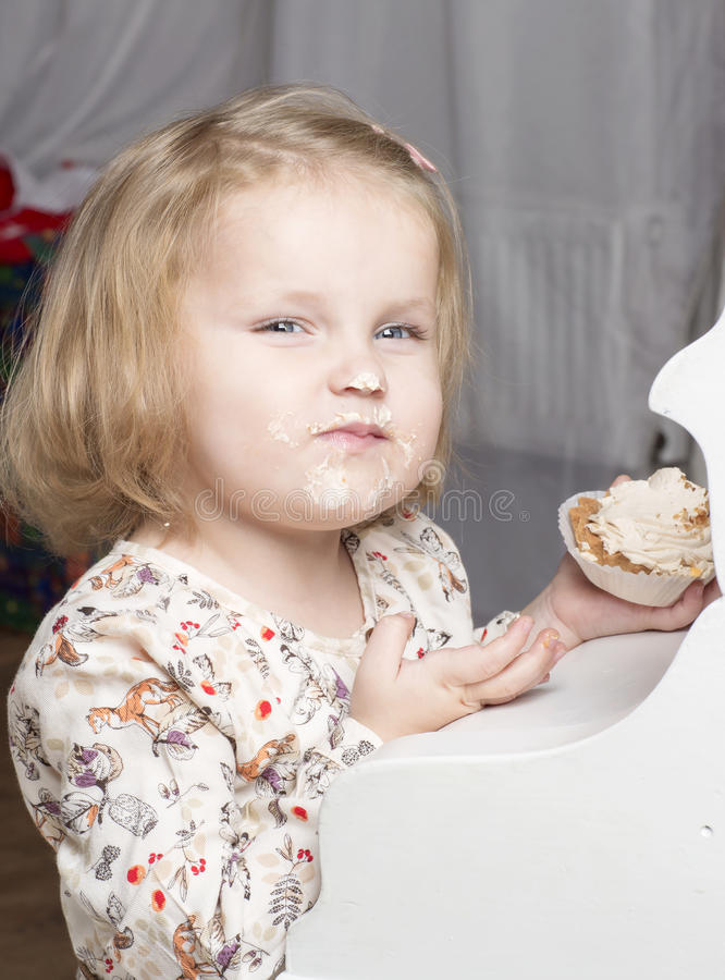 Портрет годовалого ребенка 2 стоковые изображения