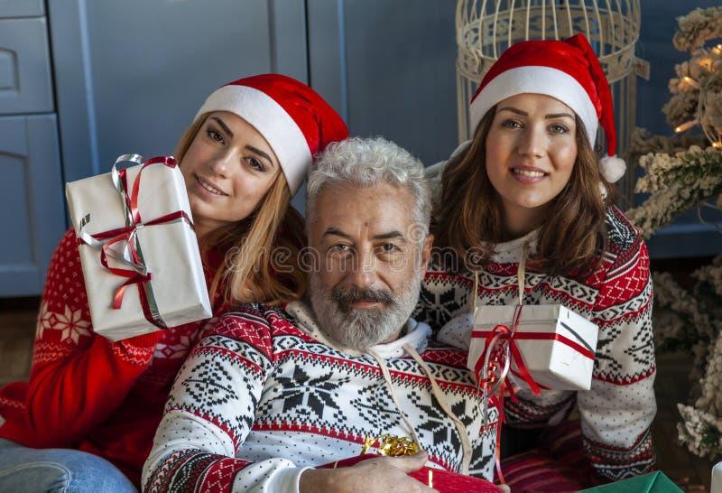 Портрет группы семьи на Рождество стоковые фотографии rf