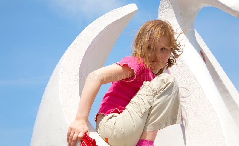 портрет девушки воздуха свежий стоковое фото