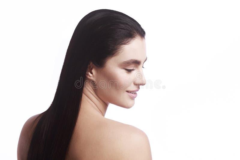 Портрет девушки в профиле стоковое изображение