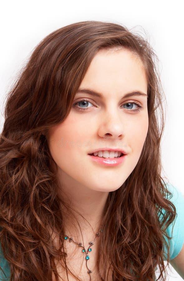 портрет девушки головной милый стоковое фото
