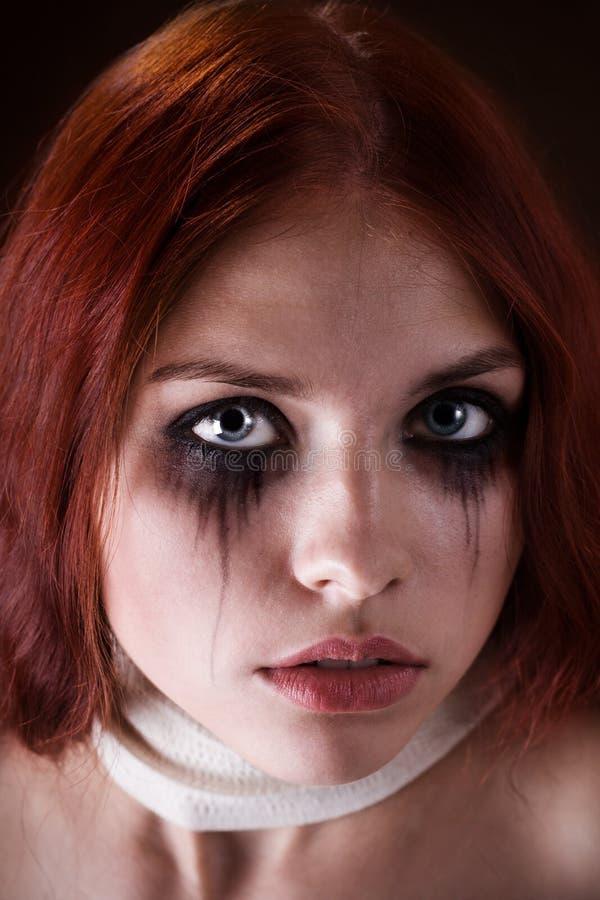 Download портрет девушки готский стоковое изображение. изображение насчитывающей рот - 6868813