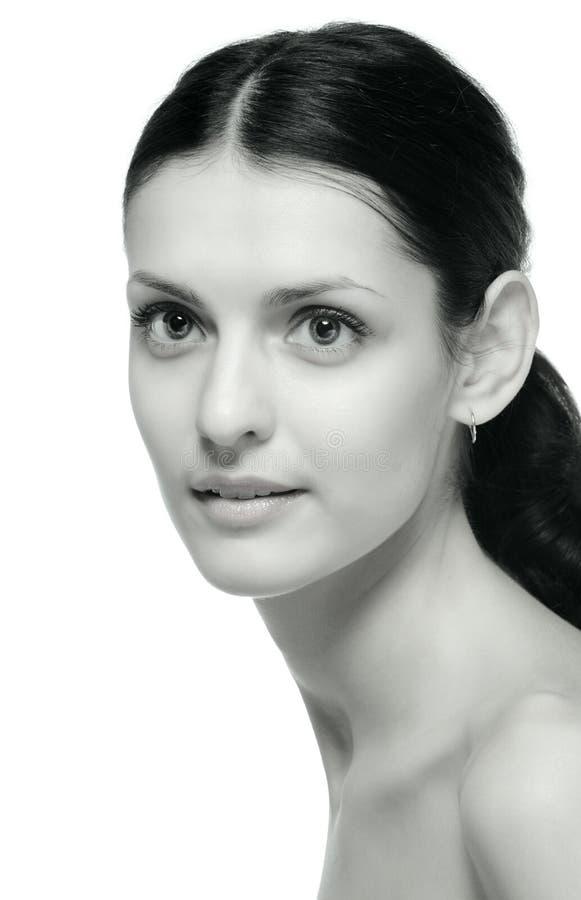 портрет девушки крупного плана monochrome сексуальный стоковые изображения