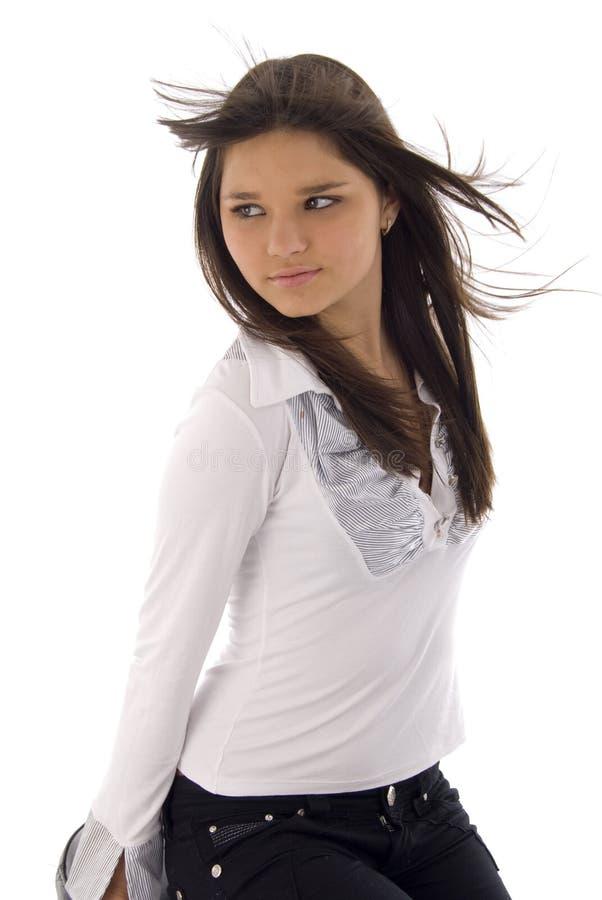 портрет девушки милый стоковое изображение