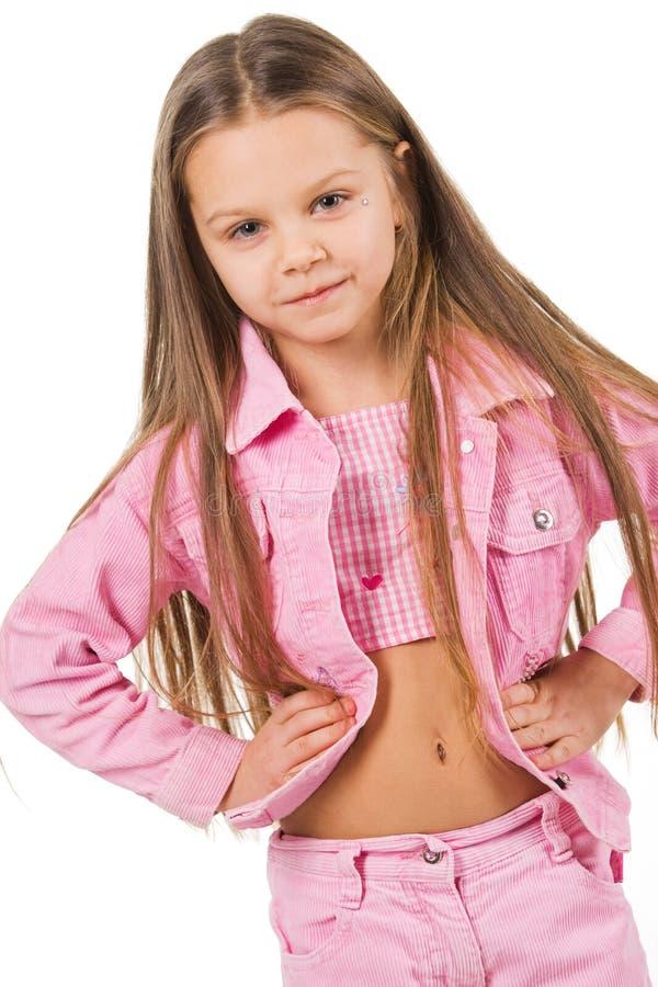 портрет девушки ребенка довольно стоковое фото rf