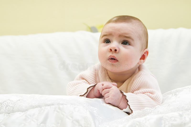 портрет девушки младенца красивейший стоковая фотография