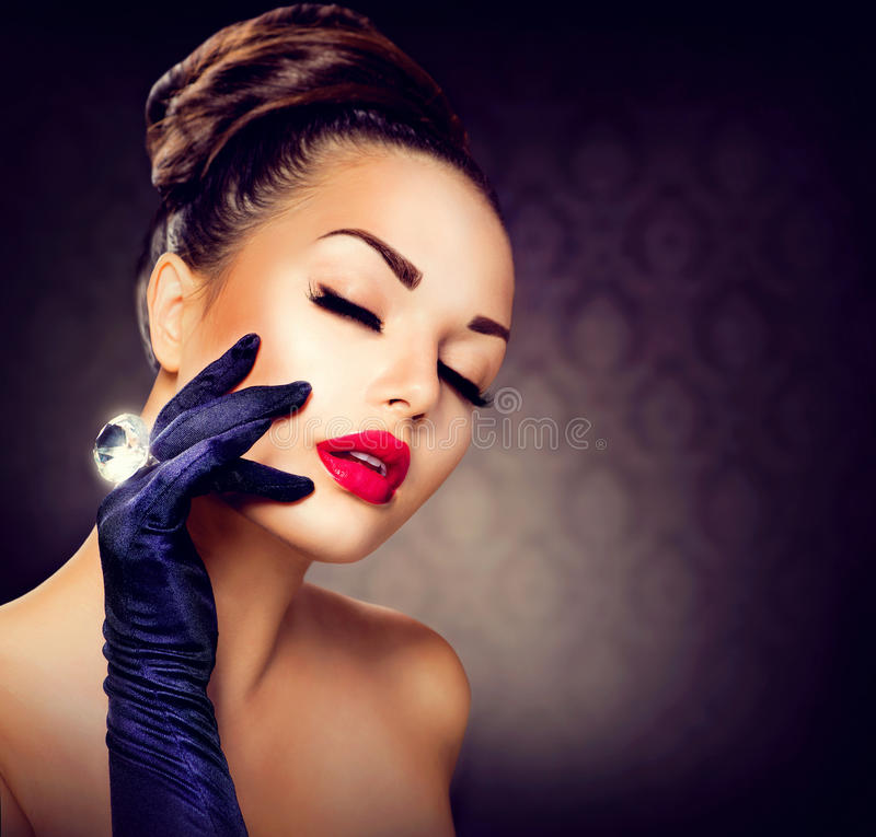 Портрет девушки очарования стоковое изображение