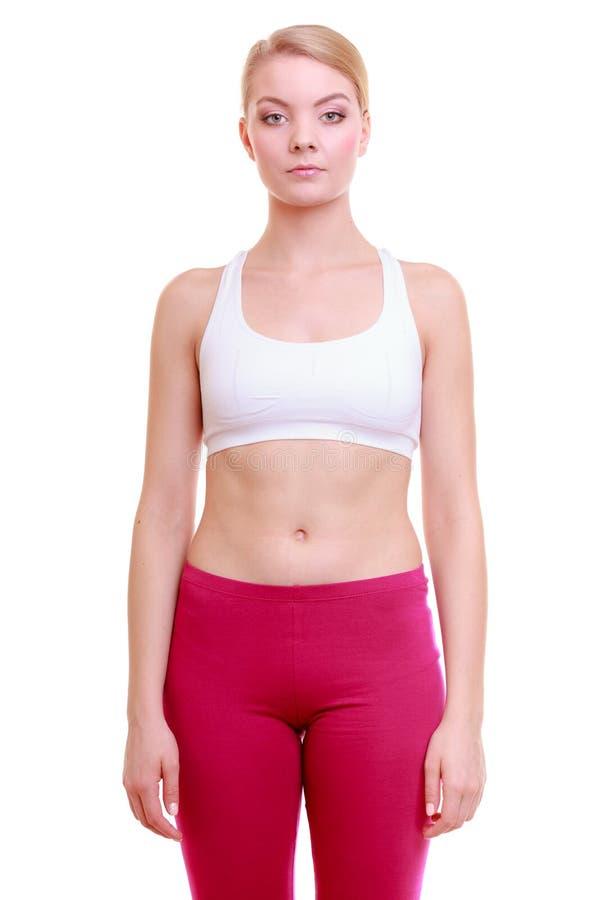 Download Портрет девушки спорта женщины фитнеса в Sportwear изолированной на белизне Стоковое Изображение - изображение насчитывающей портрет, lifestyle: 40587487