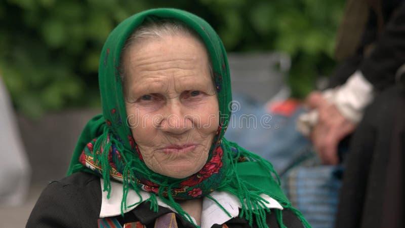 Портрет женского ветерана войны стоковое фото rf