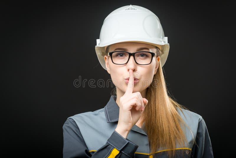 Портрет женского работника стоковая фотография