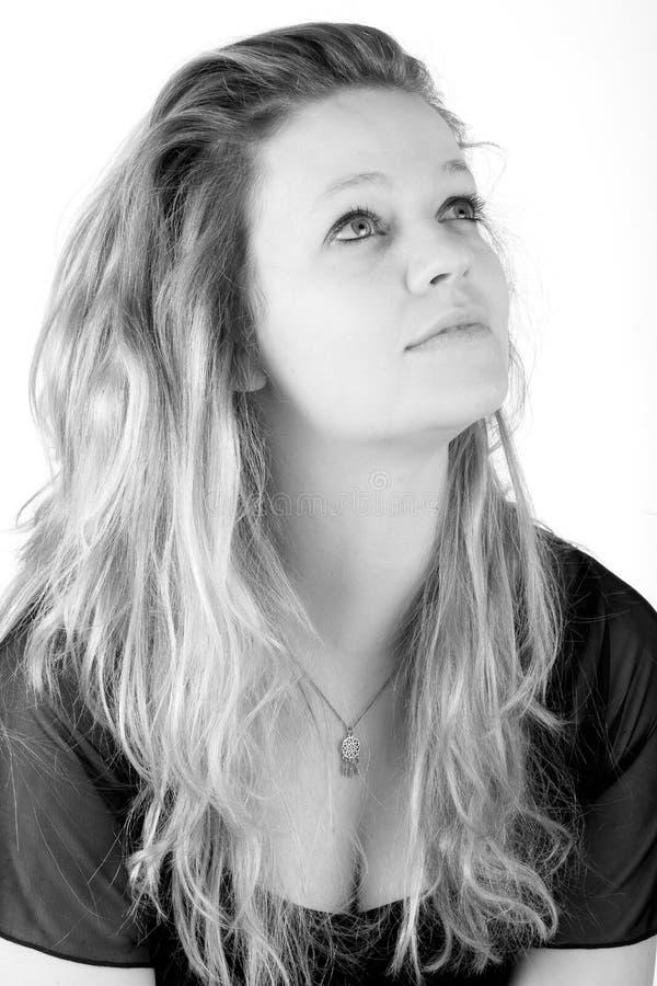 Портрет женщины в светлом тоновом изображении стоковая фотография rf