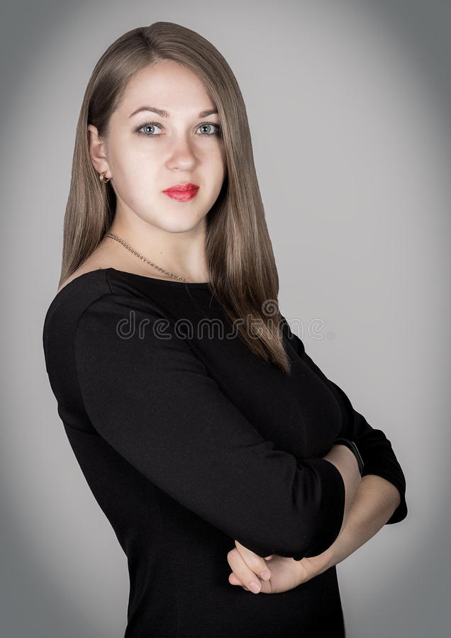 Портрет женщины дела стоковые изображения rf
