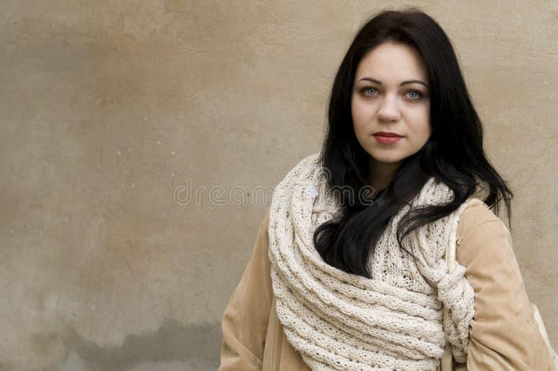 Портрет женщины зимы стоковые изображения