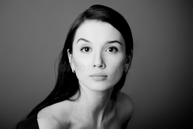 Портрет женщины. Крупный план стоковая фотография rf