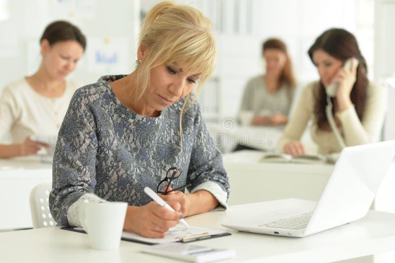 Портрет женщин работая совместно в офисе стоковые фото