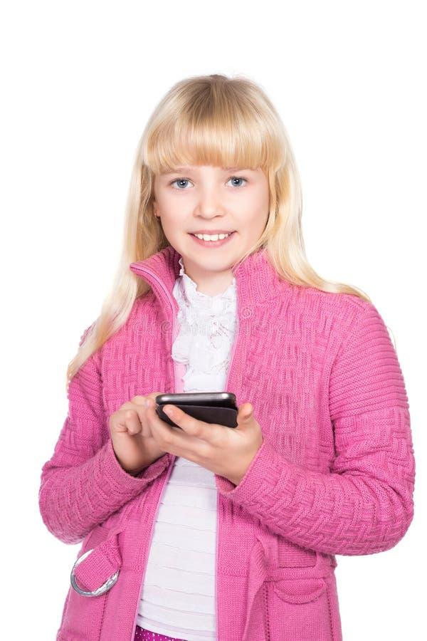 Портрет жизнерадостной белокурой девушки стоковое изображение rf