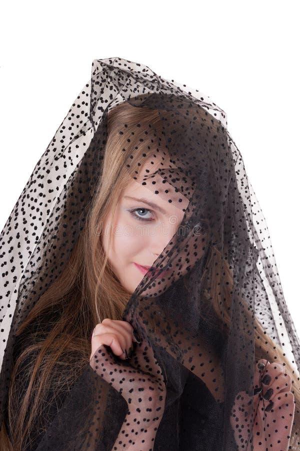 Портрет загадочной девушки стоковое фото rf