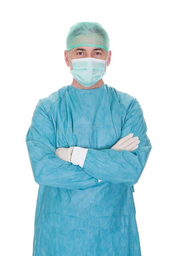 Портрет зрелого мужского хирурга стоковое фото rf