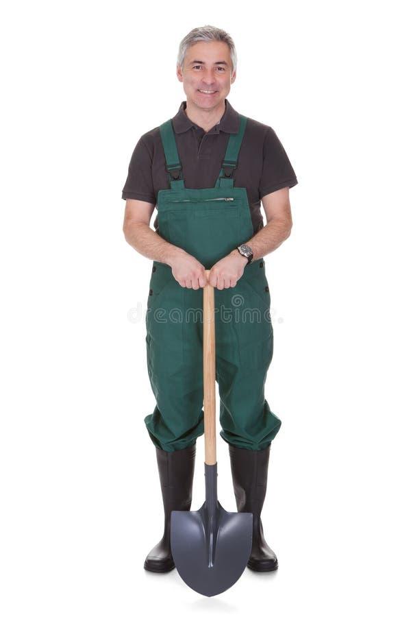 Портрет зрелого мужского gardner стоковые фото